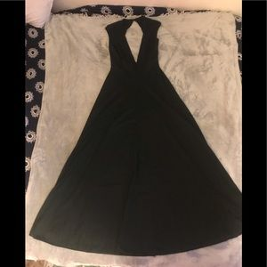 VINTAGE Slip Dress 1950s Or 70s CinAndre Black